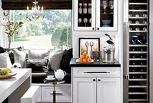 Dream Kitchens & Pantries / Built in storage that makes life easier, clean lines, islands & banquets, and warm stone tones...
