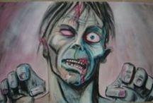 """Art: Horror - Z is for Zombies...who munch on your brains! / """"Sometimes Dead Is Better"""" - Jud Crandall (""""Pet Sematary"""") / by John D. Hill"""