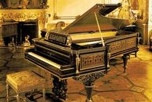 """Music: Instruments - """"I Love A Piano"""" / Here's some information and pictures of pianos (and other keyboard instruments) that I admire. / by John D. Hill"""