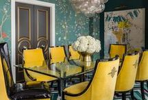 Riverside Penthouse / This bright and bold project was one of my favorites to design! Featured in Rue Magazine's January 2015 Color Issue!