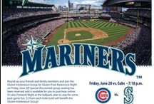 "Gluten-Free Mariner's Tailgate Party / CHICAGO CUBS vs MARINERS …Pearl Jams' MIKE MCCREADY …Gluten-Free Ball-Park Food …FIREWORKS Show!!!!!!  All for only $20! Don't miss ""Gluten-Free Awareness Night"" at Safeco Field on June 28th! It's a Prime Game at an affordable price!! Hear Mike McCready performing the National Anthem, watch the Mariners pound the Cubs while munching on a Gluten Free hot-dog, and top it off with a FANTASTIC fireworks show.  mariners.com/GlutenFree / by Gluten Intolerance Group of North America"