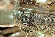 China~Dishes~Silver~Crystal