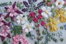 Embroidery, Ribbon Work, Stitches