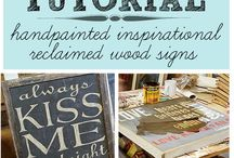 Crafts: Wood, Signs, Paint