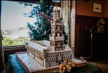 Gingerbread Houses / These gingerbread houses are the centrepiece of our Christmas decorations at Pen-y-bryn Lodge in Oamaru, New Zealand.