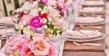 WEDDINGS / #weddings #wedding #bride #married #cake #flowers