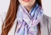 a silk scarf / There is no more versatile and timeless accessory than a silk scarf.