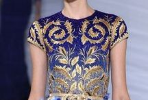 gold + silver + metallics + embellishments / shiny things and embroidery