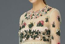florals / Flowery fantasies. Flowers on clothes and jewellery. Floral trend.