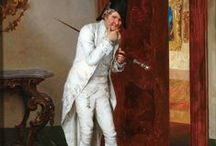 18th: Gents / Examples of 18th century Men's wear, hair styles and accessories