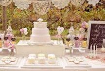 Mesa do bolo e de doces