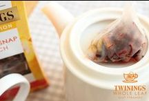 Gingersnap Peach Tea / Twinings new range of Whole Leaf Silky Pyramid Teas