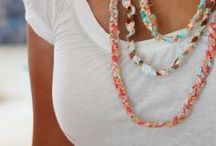 Fabric necklaces + scarves