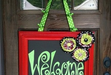 CHALKBOARD and WOOD SIGN IDEA INSPIRATION