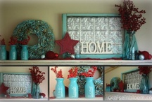 MANTEL INSPIRATIONS / I love decorating and using my mantel as the focal point of my room.