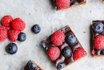 Healthy bakes / Baking health consciously. A board loaded with sweet treats and minimal guilt!