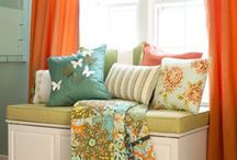 Colorful dining & living rooms                Orange & Yellow / by Joy Justice