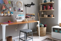 office space / studio & office decorating & organizing ideas / by Gina @ Shabby Creek Cottage