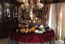 Halloween: Indoors / My entire house is decorated for Halloween, including the bathrooms and the laundry room.  I believe you should be able to walk into any room and get that Halloween spirit. No pun intended.  My grandkids love it. / by Gwen Crivello