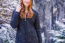 Winter Style for Her / From woolen cardigans, knitted dresses to beautiful sweaters. Warm and cozy, this winter clothing is inspired by very best of Irish tradition. Wool sweaters, cardigans and shawls are crafted from super soft luxurious yarns of merino, cashmere and pure wool. Superb quality and craft makes this winter collection perfect for winter days.