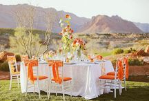 Tangerine Wedding inspiration / www.forevermoreevents.com  / by Forevermore Events /Laura Stagg