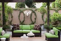 Garden and outdoor living spaces / Great ideas for yards, patios & porches. Plants, planters, outdoor decor....this is the board!  / by Ally Douglas