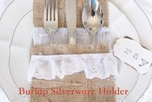 All Things Burlap / Burlap inspiration and ideas