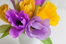 CREATE! Paper Crafts / Includes floral creations made from other materials / by Menchu Madriaga