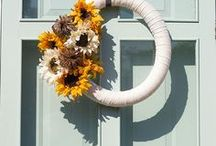 Fall / Everything you need for fall!  DIY, Crafts, Ideas, Decor, Inspirations, Accessories, Wreath, Football, Thanksgiving, Recipes