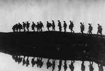 1914 - 1918 WW1 / World War I (WWI) was a global war centred in Europe that began on 28 July 1914 and lasted until 11 November 1918.  More than 9 million combatants were killed: a scale of death impacted by industrial advancements, geographic stalemate and reliance on human wave attacks. More than 70 million military personnel, including 60 million Europeans, were mobilised in one of the largest wars in history / by Sarah db
