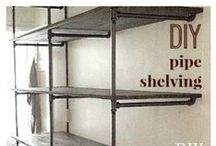 DIY - Shelving / See also: DIY - Home Office & Library; DIY - Window Seats and Storage Benches / by Sarah db