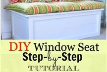 DIY - Window Seats and Storage Benches / by Sarah db