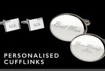 Personalised Cufflinks / Make it personal with special cufflinks personalised just for them. Silver personalised cufflinks, personalised wedding cufflinks, or personalised engraved cufflinks, you're sure to find the perfect personalised cufflinks here.