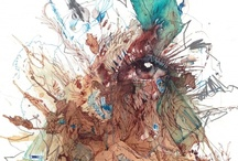 Artwork / Works by Carne Griffiths represented by various galleries...click on the image to go through to the gallery.
