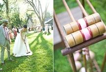 Splendour on the (wedding) grass.. / Lawn games, picnic weddings, rustic signage..