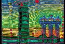 Artist: Hundertwasser / I am drawn to the color and organic lines of this artist's work, both architecture and paintings. / by Robin Maker