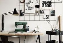 Workspace / Bureau / work • space • office • design • home • organization • bureau de travail • maison • organisation