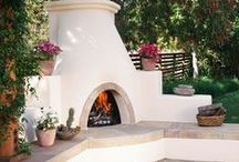 Backyard Landscaping / Beautiful outdoor spaces, backyards and patios to inspire landscaping and design- See More: http://www.mantelsdirect.com/outdoor_fireplaces.html?utm_source=pinterest&utm_medium=social&utm_campaign=outdoorfirepits&cpao=130&cpca=pinterest&cpag=social&kw=outdoorfirepits