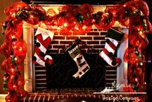 Holiday Mantel Decorations / Seasonal decor, holiday accents and design tips to make your fireplace mantel the centerpiece of your home.