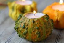 Outdoor Fall Decorating / For help decorating your patio or backyard, get seasonal tips and beautiful outdoor fireplace products.