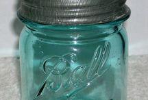 Mason/Ball/Canning Jars/fruit jars &(butter churns) / Assortment of colors & brands