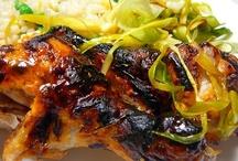 Food: Chicken / Chicken recipes and presentation ideas.