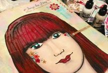 Art Journal / Art journaling - free your inner creative spirit and enjoy the process. Art journaling for you - just you. xx