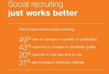 Recruit & be Social / Social Recruitment is not just about online job Boards it's the ability to create talent communities and engage with these candidates long before a job arises. No more job pushing just cherry picking from your communities
