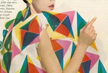 Modular / Cubist and triangular shapes in print and pattern.