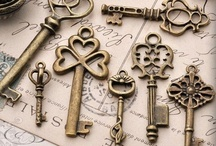 Keys to the Past / I LOVE skeleton keys. What is it about skeleton keys that stirs the imagination so? I can stare at them for hours and my mind takes me to the most wondrous places! / by Tricia Russell