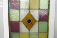 Antique English Stained Glass Windows / Pictures of our eBay listings of Antique English stained glass
