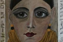 Portraits / A few portraits I have created using Golden Acrylic Paint.