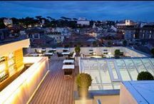 AcquaRoof breath-taking views / Enjoy breath-taking views from one of Rome's leading rooftop hotspots: AcquaRoof. Savor an indulgent dinner with creations of Michelin Star Chef Alessandro Narducci. The perfect spot for an evening aperitif while taking in spectacular views of the Eternal City.