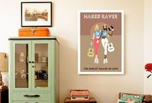 Original Prints / Original designs and prints by Daniel Orlick for Naked Raver. http://www.fuelledbyfemale.com